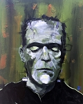 FRANKENSTEIN'S MONSTER 16x20 ORIGINAL PAINTING
