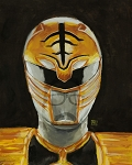 WHITE RANGER 16x20 ORIGINAL PAINTING